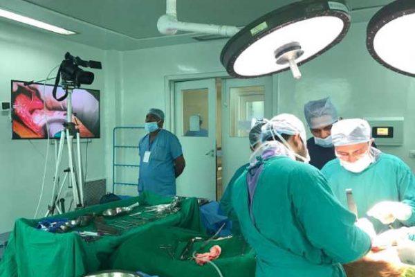 Operating at Kolkata in Abdominal wall reconstruction training program